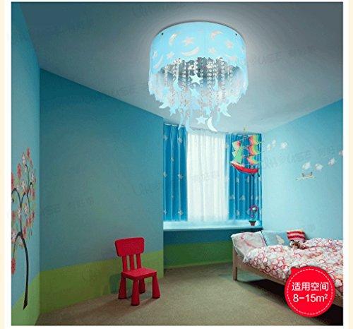 Blauer Mond und die Sterne der Kinder im Zimmer Kristall Decke Jungen und M?dchen Schlafzimmer Kronleuchter Beleuchtung leben LED-Lampen - 3