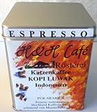 """Katzenkaffee fein gemahlen ESPRESSO KOPI LUWAK INDONESIEN """"PREMIUM"""" 160 g Dose"""