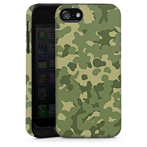 Apple iPhone 5 Housse Étui Silicone Coque Protection Motif Motif Vert Cas Tough brillant