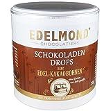 Edelmond Xylit Schokoladen-Drops Fair Trade. Volle Kakaobohne. Zartbitter. Ohne Zucker, nur Birkenzucker Süßigkeit. Vegan. 250g Dose (Zartbitter)