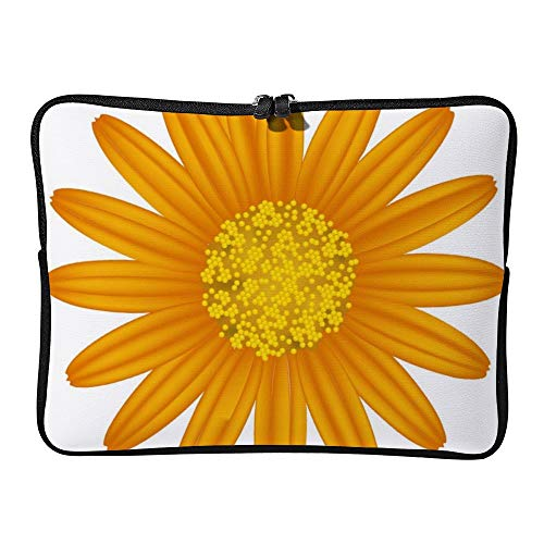 DKISEE Orange Daisy Laptop Sleeve Case Bag Cover Compatible 13 inches Notebook MacBook Air MacBook Pro - Cover Hp-laptop-disney