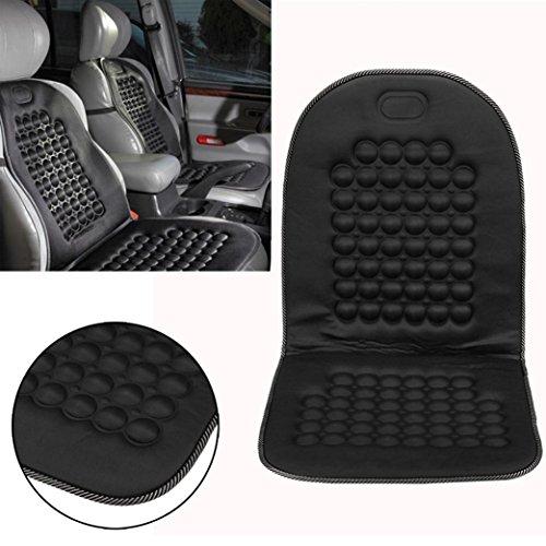 Housse pour siège de voiture, Coussin universel Byste pour siège de van/voiture Protecteur de santé massage confortable rafraîchissant et mince, soulageant la fatigue du chauffeur, noir