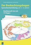 Auf einen Blick! – Der Beobachtungsbogen Sprachentwicklung von 1–6 Jahren: Nachbestell-Set mit 10 Bogen