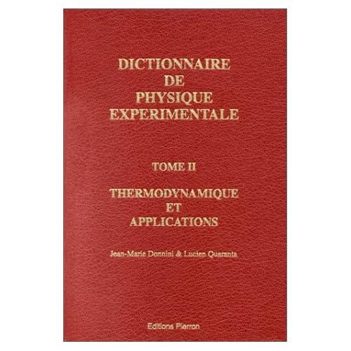 Dictionnaire de physique expérimentale, tome 2