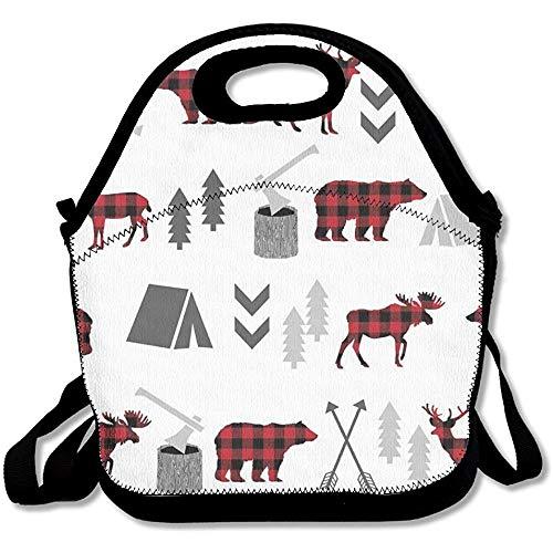 e mit Tiermotiven, für Reisen, Schule, Picknick, Lunchbox für Männer und Frauen und Kinder ()