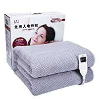 WLGC Electric Blanket, Intelligent Timing Dual-Control Thermostat To Increase Electric Mattress For Bed, Suitable For Home Heating,1.8 * 1.5
