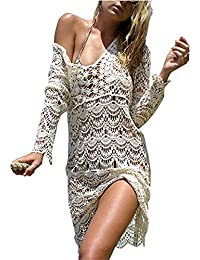 cd9ebdcac8e829 Bikini Cover Up ININUK Bikini Kleid Strandkleid Damen Push Up Strandponcho  Sommer Kleid Bikini Überwurf Kaftan…
