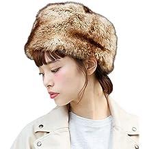 8ecf1a5492222 Sombrero de invierno de mujer de moda Mantenga caliente tocado de piel  sintética Sombrero de nieve