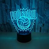 Lampade Da Parete A Soffitto A Forma Di 3D Led Night Light Sculpture Lights Calcio Led 7 Colori Night Light Booter Natale Baby Bedside Sleeping Birthday Party Gifts