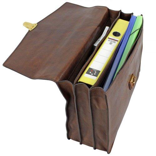 Sac à main homme TODAY BUSINESS en cuir noir avec bandoulière détachable The Bridge 064689/01/20 marrone-braun