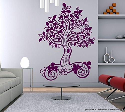 Adesivo da parete albero gufo vita albero TREE Ortensia (Ortensia Albero)