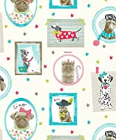 Arthouse Imagine Fun Hall of Fame Cream Wallpaper 668400 - Glitter Childrens Dog by Arthouse by Arthouse