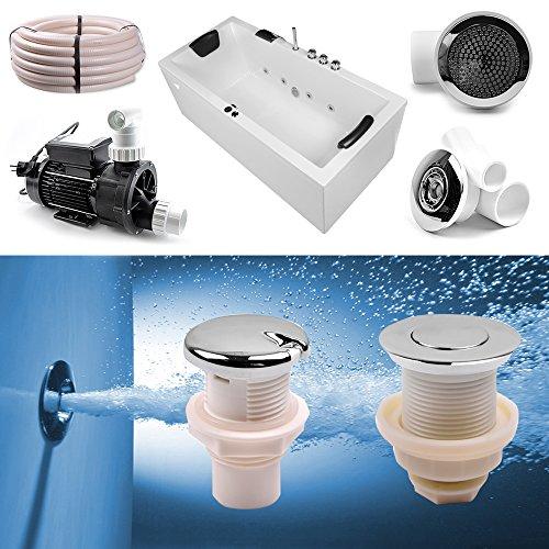 Whirlpool Bausatz, Jacuzzi Selbstbausatz komplett mit Seitendüsen und allem Zubehör