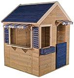 Wendi Toys M17 Maritime House | Kinder HolzSpielhaus | Blau Holz Garten Haus | Holzhäuser für draußen