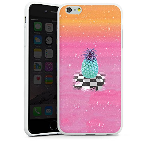 Apple iPhone X Silikon Hülle Case Schutzhülle Great Pineapple Ananas Galaxie Silikon Case weiß