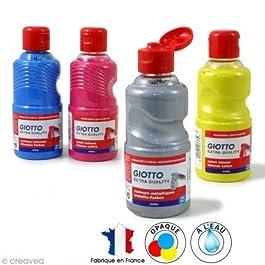Giotto-Témpera con diversi effetti e rifiniture, bottiglia 250 ml, colori assortiti
