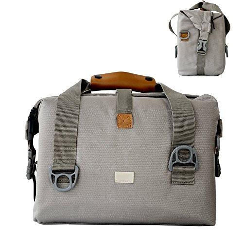 Messenger Kameratasche, Flypanda SLR Kameratasche Digital-Spiegelreflex-Kamera Tasche für DSLR-Kamera und und 2 Objektiven (31 x 15 x 22 cm, Grau)