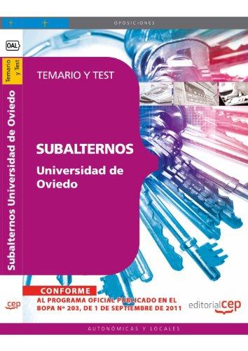 Subalternos de la Universidad de Oviedo. Temario y Test (Colección 1630) por Sin datos