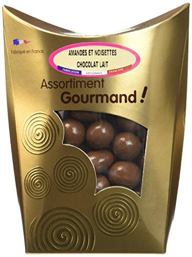 Les douceurs de Valentin Amandes et Noisettes Chocolat Lait Extra Fin 200 g - Lot de 2