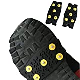 WESEEDOO Ice Cleats Anti Slip Schnee Eisklettern Spikes Grips Steigeisen Cleats 5-Stud Schuhe Cover
