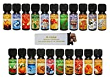21 verschiedene weihnachtliche und winterliche Duftöle Aromaöle Raumduftöle in je 10 ml Fläschchen