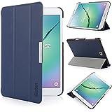 iHarbort® Samsung Galaxy Tab S2 8.0 Funda - ultra delgado ligero Funda de piel de cuerpo entero para Samsung Galaxy Tab S2 8.0 T710 , con la función del sueño / despierta, azul oscuro