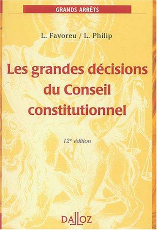 Les grandes dcisions du Conseil constitutionnel