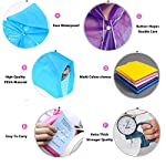 Waterproof Raincoat - Portable,Reusable ,Emergency EVA Rain Ponchos with Hoods and Sleeves 100% Waterproof,2 PACK for Adults&Children -Best for Camping, Hiking, Outdoor, Disney