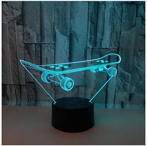 Luce Notturna Luce Notturna Per Scooter 3D Luce Colorata Per Telecomando Led Lampada Da Tavolo 3D Lampada Da Tavolo Colorata Piccola Usb