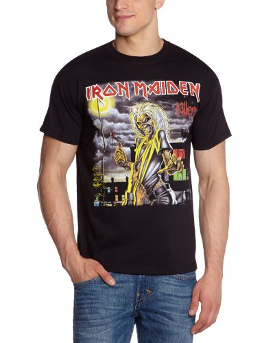 Image of Iron Maiden Men's Killers Cover Short Sleeve T-Shirt, Black, X-Large