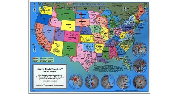 Amazon.in: Buy 2001 CodeTracker Area Code Map : area codes ...