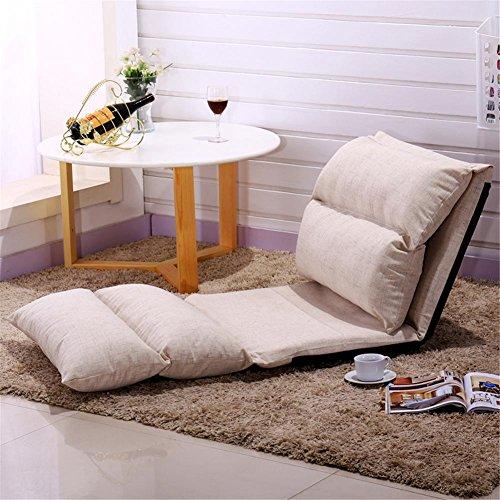 Wohnzimmer Outdoor Klappstuhl (Lazy Sofa Einzelsofa Stuhl Tatami Nachttisch Fußboden Klappsofa Lazy Stuhl Klappstuhl Outdoor Stühle Erker Fenster Größe 225 * 68cm , gray)