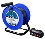 Masterplug LDCC2513/4BLRCD 13amp 4 Socket 25m Open Cable Reel with RCD Plug - Blue