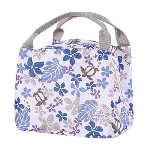 Rieovo 2017pranzo borse per donne floreale a strisce contenitore termico per pranzo picnic, Kids uomo Cooler Tote Hawaii flower