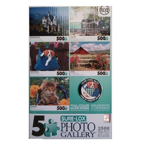 5 in 1 Multipack Jigsaw Puzzles - Castle, Train, Animals by Sure-Lox