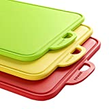 Best Kitchen Cutting Boards - Zanmini Chopping Board Set of 3,Multicolour with Hanging Review