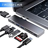 Byttron USB C hub, Thunderbolt 3 Base, Type c hub with 4K HDMI, TF/SD Card Reader, Type C Female Port, 2 USB 3.0 s, Dongle Type c hub Adapter for MacBook Pro 2016/2017/2018 and Air 2018
