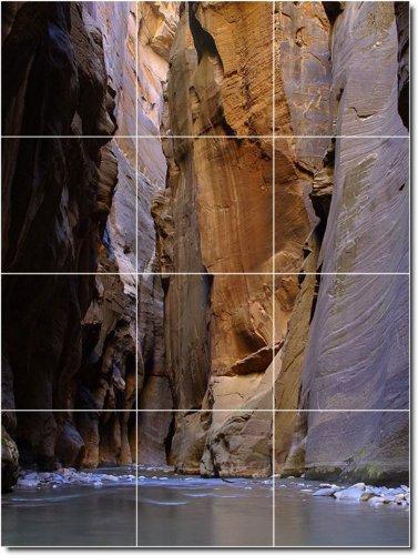 CAñONES FOTO MURAL DE AZULEJOS 5  36X 48PULGADAS DE PARED CON (12) 12X 12AZULEJOS DE CERAMICA