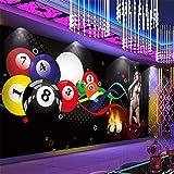 BZDHWWH Wallpaper Mural Benutzerdefinierte 3D Billardkugel Schönheit Club Gym Tooling Hintergrund Wanddekoration Malerei,50Cm (H) X 70Cm (W)