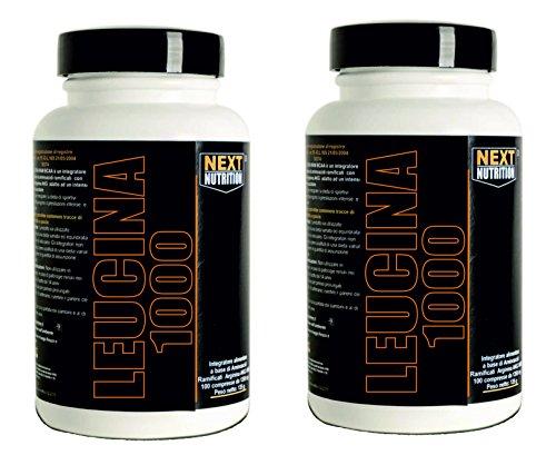 leucina 90 tabletas | 2 paquetes | Aminoácidos Next Nutrition | 1000 mg de leucina por tableta | recuperación de recuperación muscular | suplementos de ciclismo culturismo |