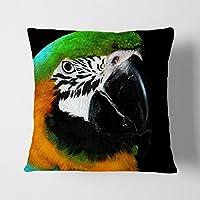 """Big Box Art blanco con Parrot Bird 1"""" cojín manta almohada, multicolor, 43x 43cm"""