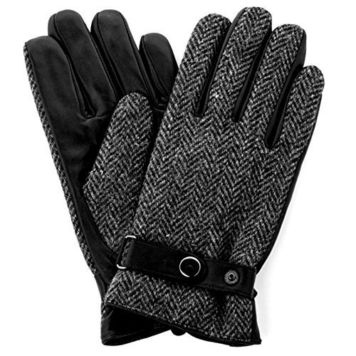 - 51GEbY 2BwIGL - Harris Tweed Luxury Designer Adult Leather Wool Mens Gloves Woollen Winter Warm  - 51GEbY 2BwIGL - Deal Bags
