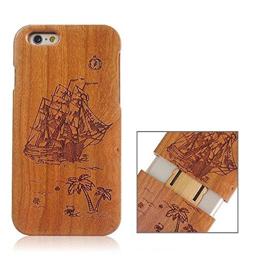 Zhou-covers, per iphone 6 & 6s, caso di legno separabile di modello della bandierina del regno unito (sku : s-ip6g-0336c)