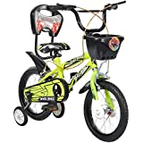 Mad Maxx Steel Kid's Single Speed Road Cycle, 14 Inches (Neon Green)