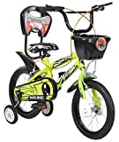 #5: MAD MAXX BMX 14 Inches Neon Green Single Speed Road Kids Cycle for 3 to 5 Years Child