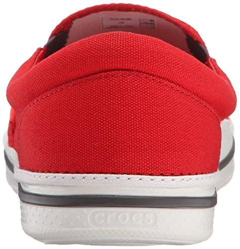 Crocs Crocs Norlin Slip-on, Mocassins homme Rouge (Flame/White)