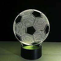 kiss me 3D-Lampe Acryl Fußball mit USB-Schnittstelle mit LED-Licht ändern Farben ändern automatisch 220x130x90mm... preisvergleich bei billige-tabletten.eu