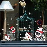 2017Weihnachten Hot Sale. lifetrend Weihnachten Schneemann entfernbare Wandsticker Home Fenster vinyl Aufkleber Decor, PVC, D, Einheitsgröße