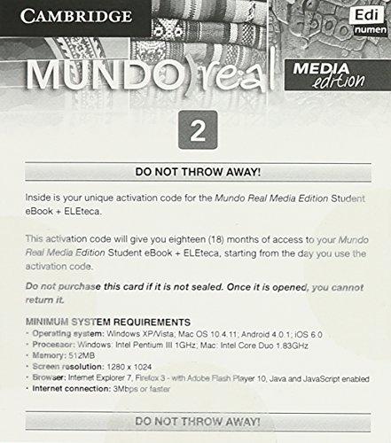 Mundo Real Media Edition Level 2 eBook for Student plus ELEteca Access Activation Card