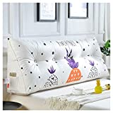 Kopfteil Nacht Sofa Kissen Lesen Rückenlehnenkissen Nordic Kreative Ananas Muster Bett Weiche Taille Pad Kissen WYQLZ (größe : 100cm)